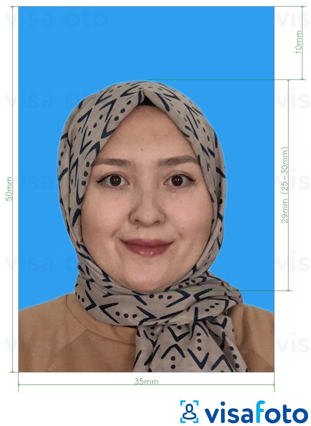 Foto Paspor Malaysia Persyaratan Latar Belakang Dan Alat 35x50 Mm Biru